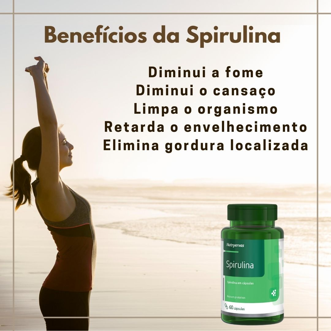 SUPLEMENTO SPIRULINA 60 CÁPSULAS - NUTRYE
