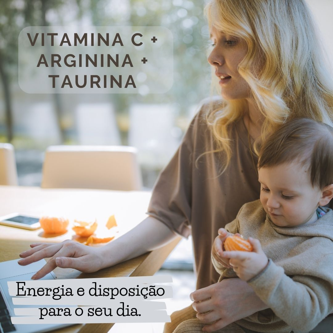 SUPLEMENTO VITAMINA C + ARGININA + TAURINA 60 CÁPSULAS - NUTRYE
