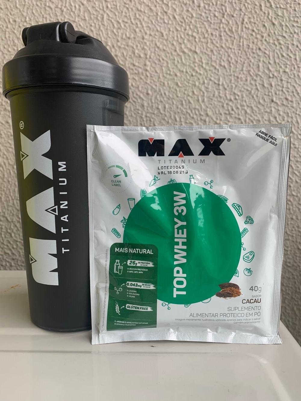 TOP WHEY 3W CACAU SACHÊ 40G (MAIS NATURAL) - MAX TITANIUM