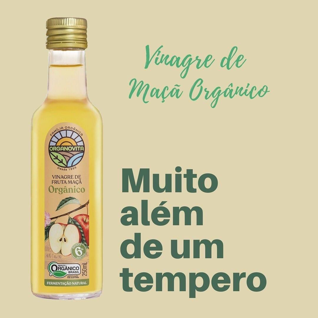 VINAGRE DE FRUTA MAÇÃ ORGÂNICO 250ML - ORGANOVITA