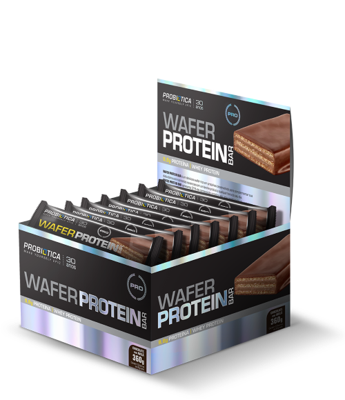 WAFER PROTEIN BAR CHOCOLATE COM AVELÃ PROBIÓTICA
