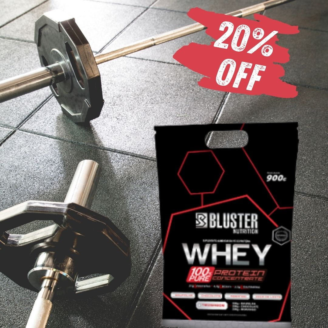 WHEY 100% PURE POUCH 900G BAUNILHA - BLUSTER