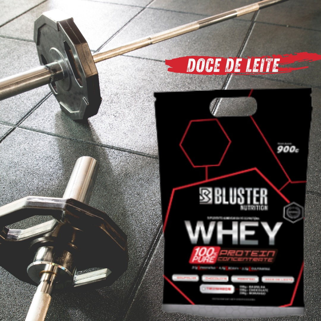 WHEY 100% PURE POUCH 900G DOCE DE LEITE - BLUSTER