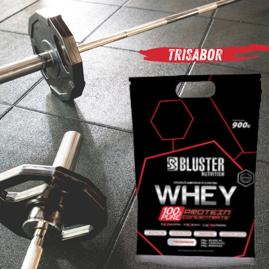 WHEY 100% PURE POUCH 900G TRISABOR - BLUSTER