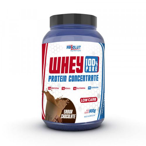 WHEY 100% PURE CONCENTRADO 900G CHOCOLATE - ABS NUTRITION