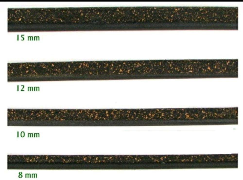 Poleiro Cortiça Preta  10 mm 3 pçs de 30 cm