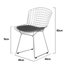 Cadeira Bertoia Epóxi preto
