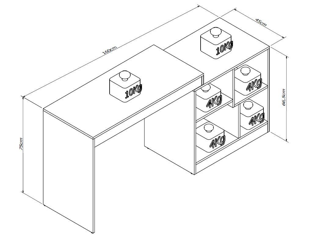 Escrivaninha e mesa para computador moove