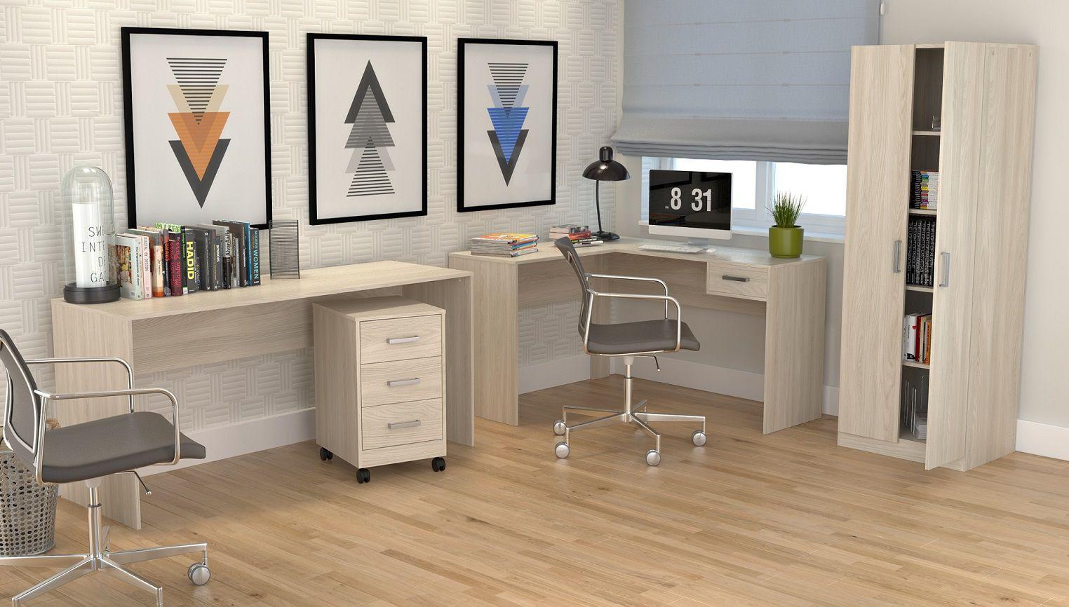 Mesa Para Escritório Em L Com 1 Gaveta Office Plus Appunto