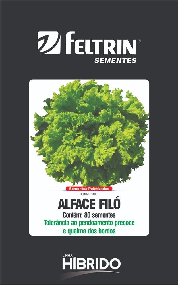 Alface Filó - contém 80 sementes Peletizada(s)