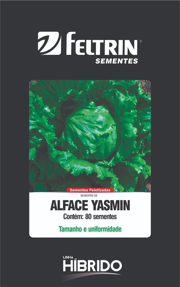 Alface Yasmin - contém 80 sementes Peletizada(s)