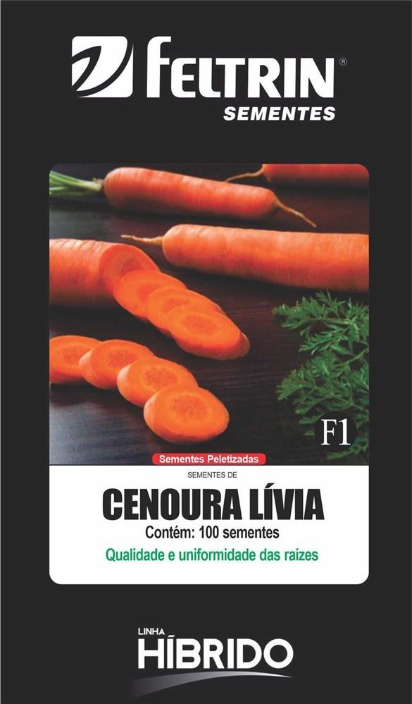 Cenoura Lívia - contém 100 sementes