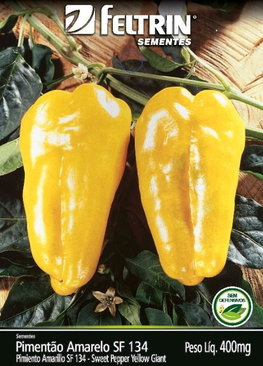 Pimentão Amarelo - contém 400 miligrama(s) de semente(s)