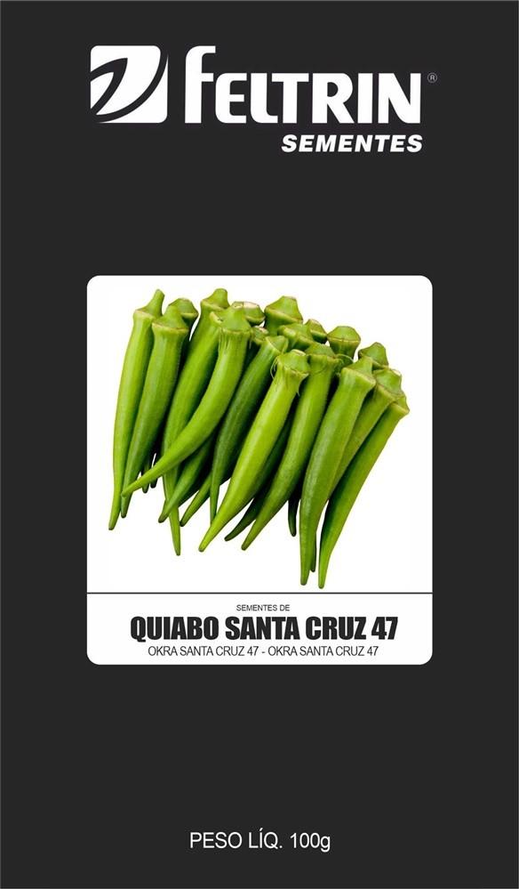 Quiabo Santa Cruz - contém 100 grama(s) de semente(s)