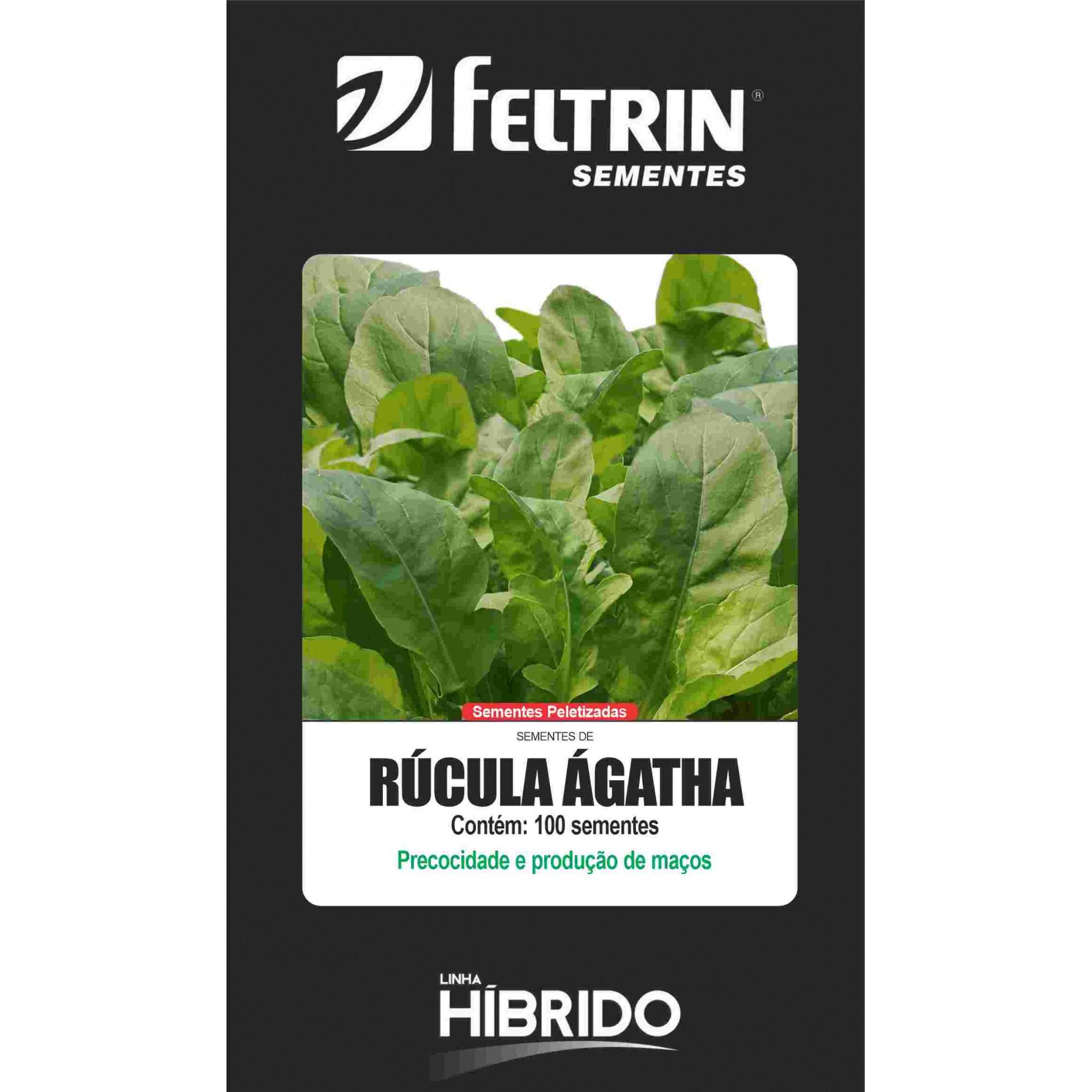 Rúcula Ágatha - contém 100 sementes Peletizada(s)
