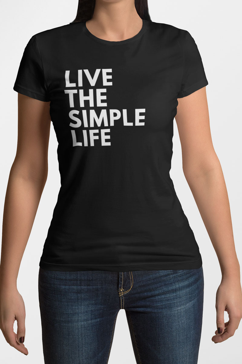 Camiseta Feminina Simple Life