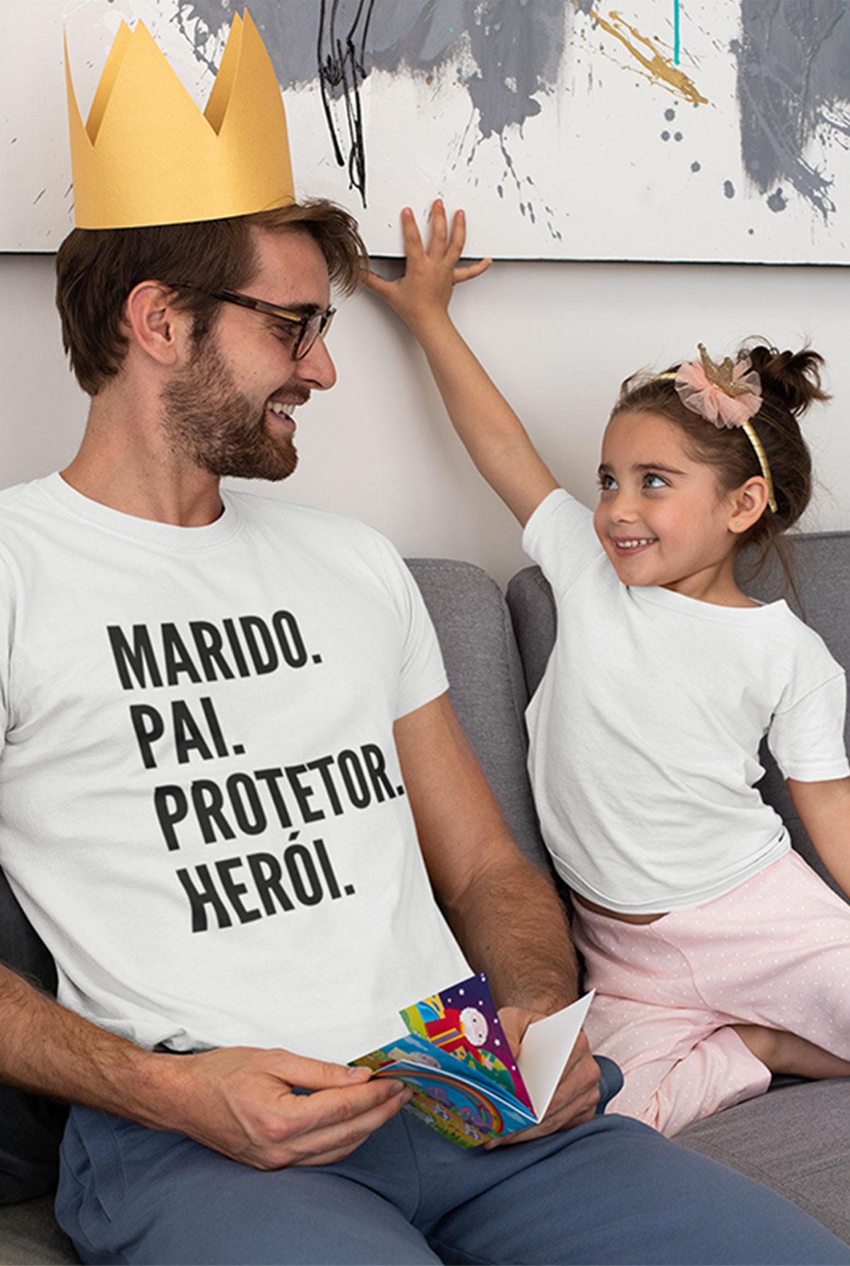 Camiseta Masculina Pai Herói