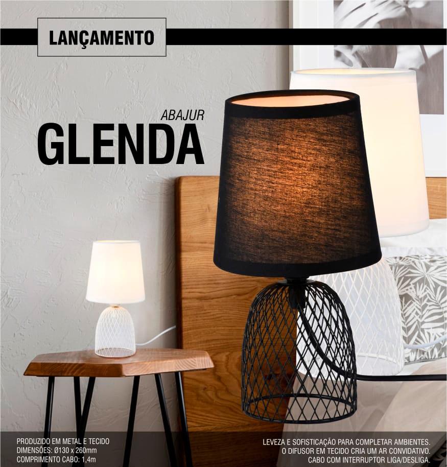 Abajur Glenda Branco Taschibra - 1xE27