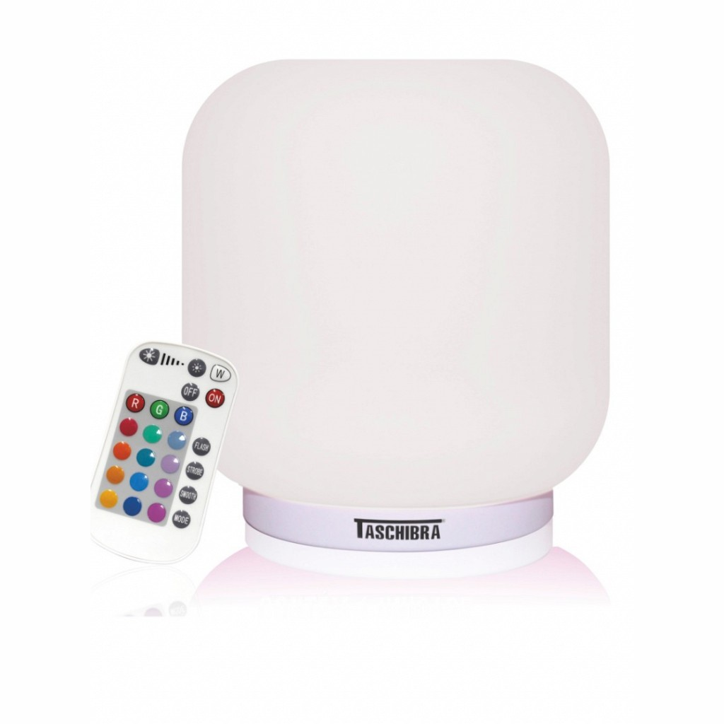 Abajur Jujuba - Muda de cor - LED - Controle Remoto - Cromoterapia  - Tascibra