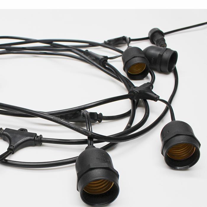 Cordão Cipro c/ 8 soquetes E27 com prolongador Taschibra