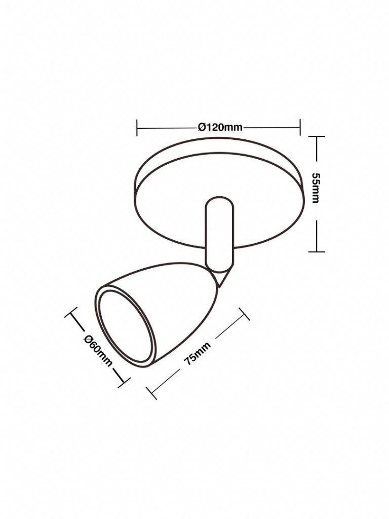 Direct - Spot led com base circular 1x4W