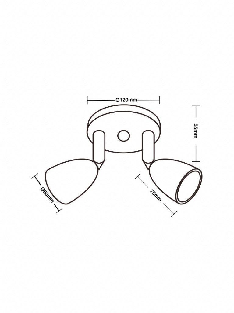 Direct - Spot led com base circular - 2x4W