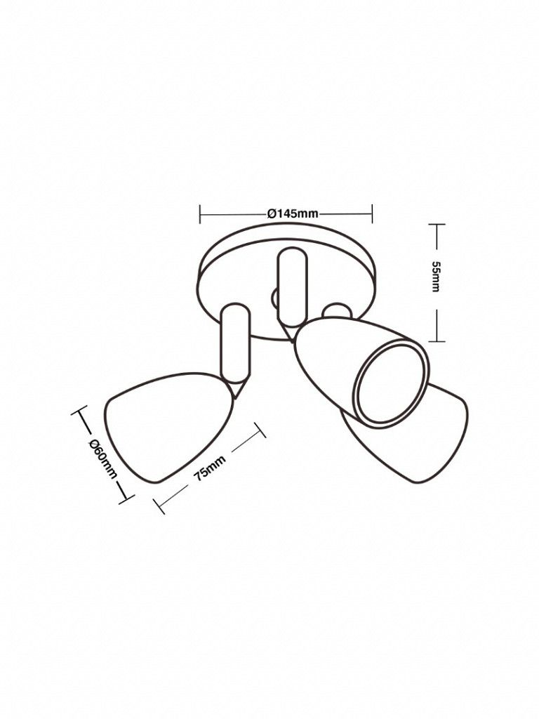 Direct - Spot led com base circular - 3x4W