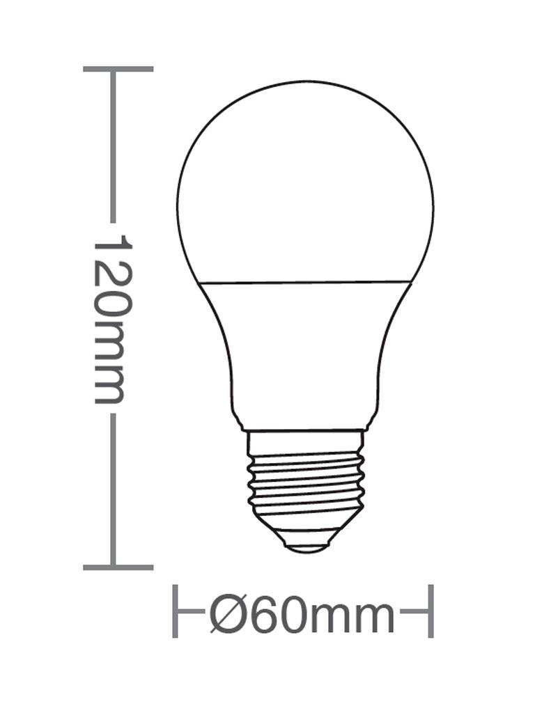 Kit 10 Lâmpadas Taschibra TKL 80 - Led - 12W - E27