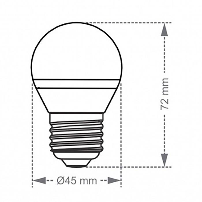 Lâmpada bolinha TBL 40 Taschibra LED E27 4,8W 2700k luz amarelada