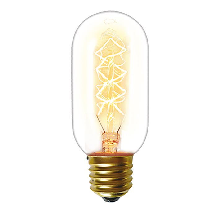 Lampada Filamento de Carbono T45 40W - Taschibra E27
