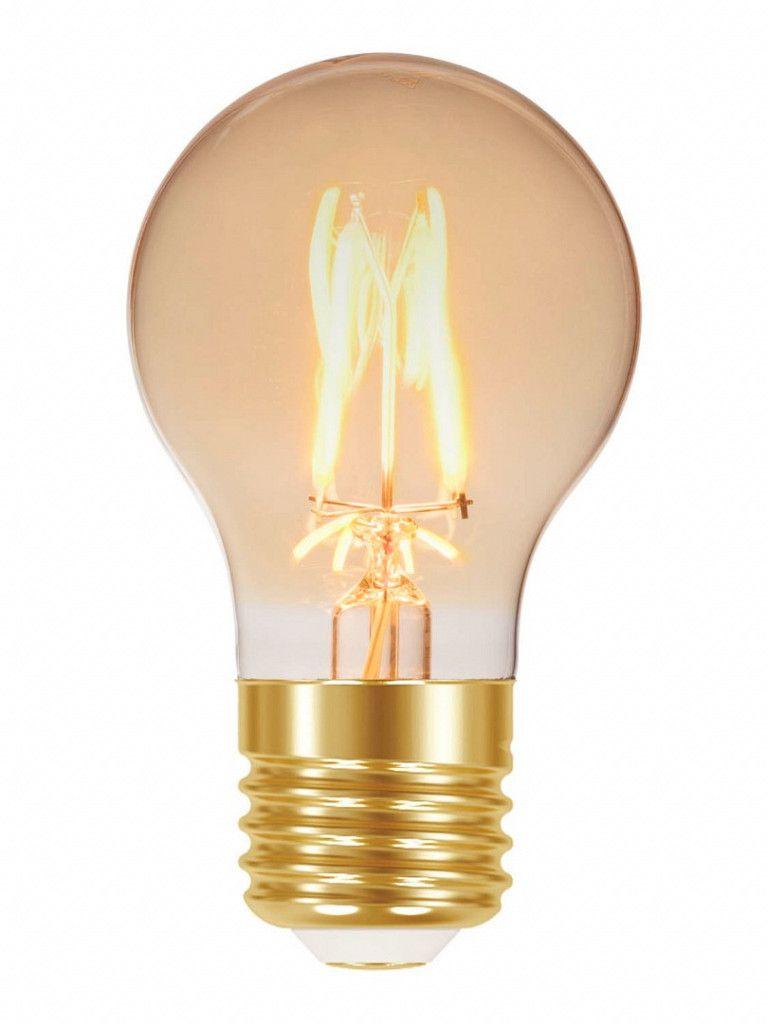 Lâmpada led filamento vintage A60 4W Ambar E27