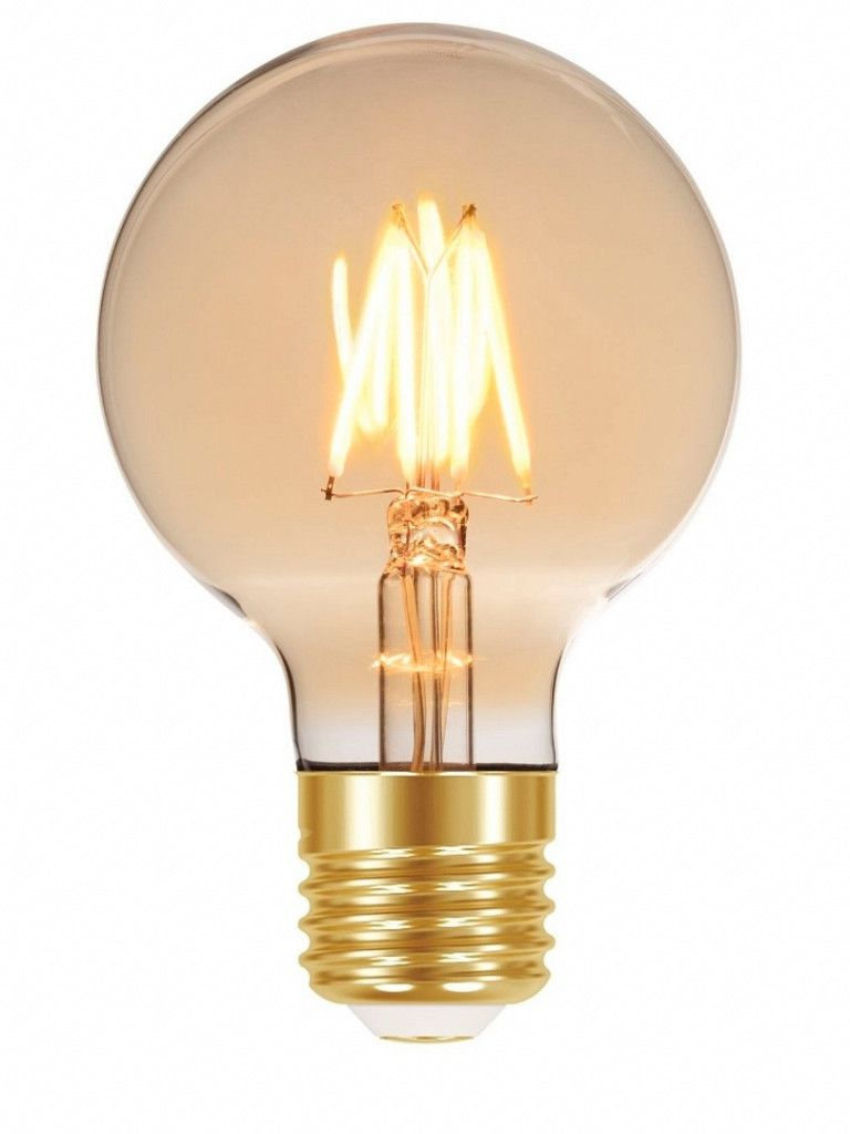 Lâmpada led filamento vintage ambar G80 4W E27