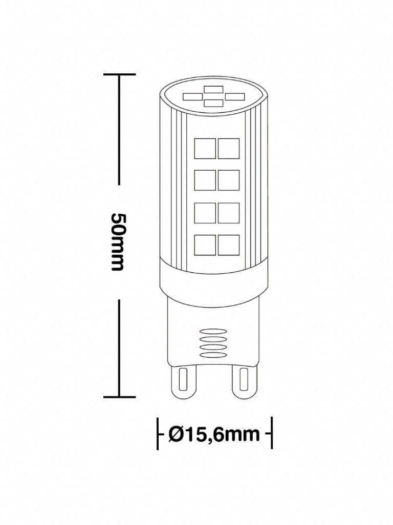 Lâmpada Taschibra G9 25 - Led - 3W