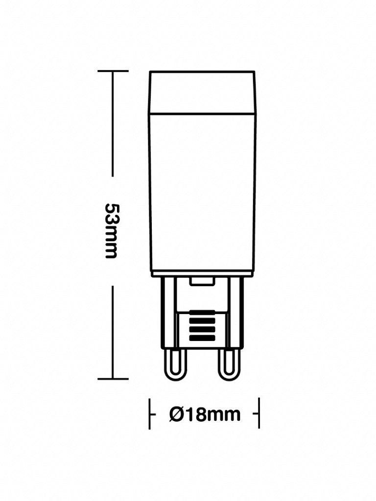 Lâmpada Taschibra G9 25 - Led - 3W - Autovolt