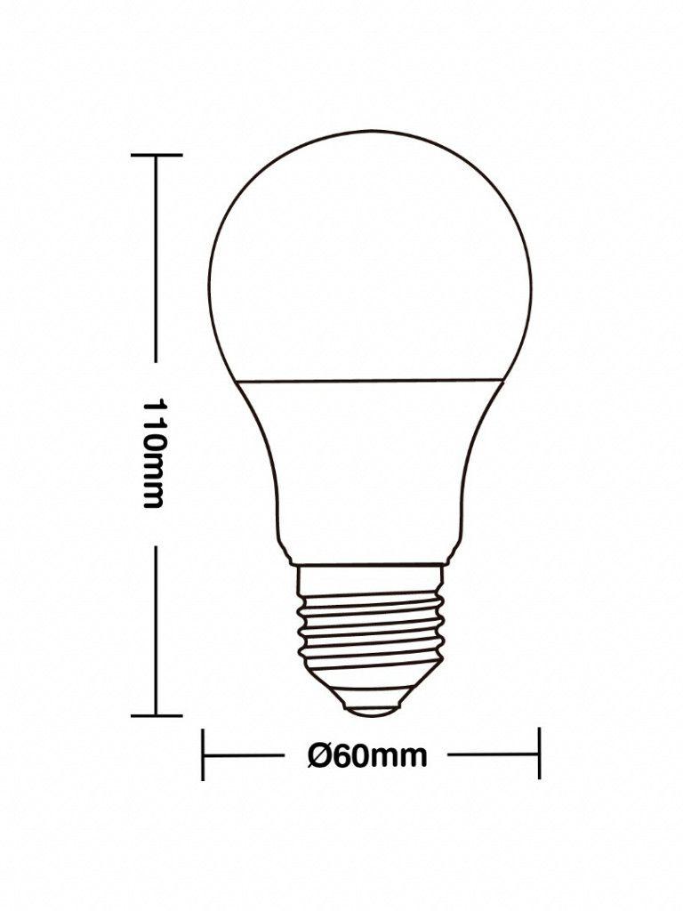 Lâmpada Taschibra TKL 60 - Led - 9W - E27