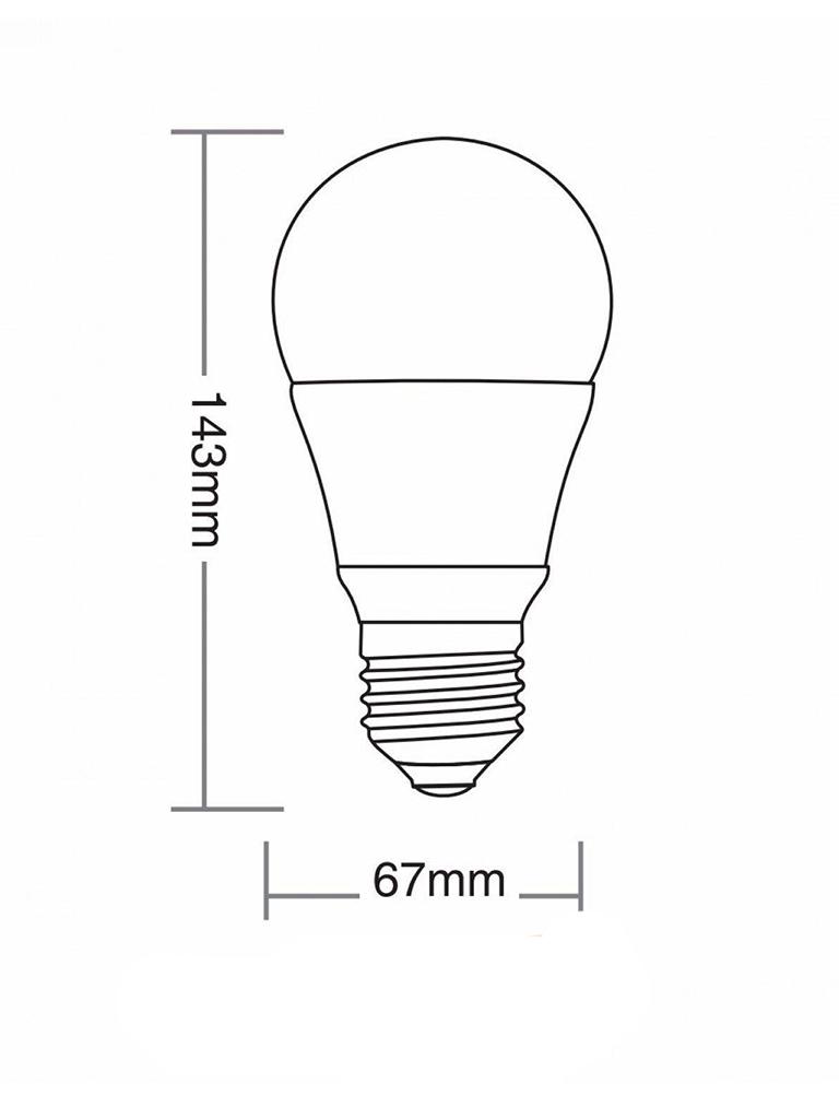 Lâmpada Taschibra TKL 90 - Led - 15W - E27