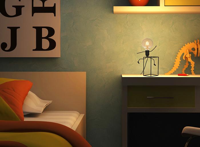 Luminária Abajur Happy - Taschibra 1xE27