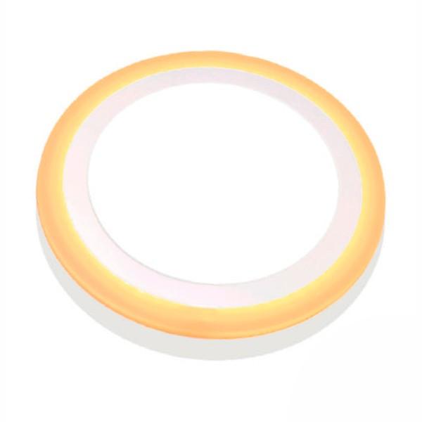 Luminária Painel Dual Color Led Embutir Redondo 6W+3W