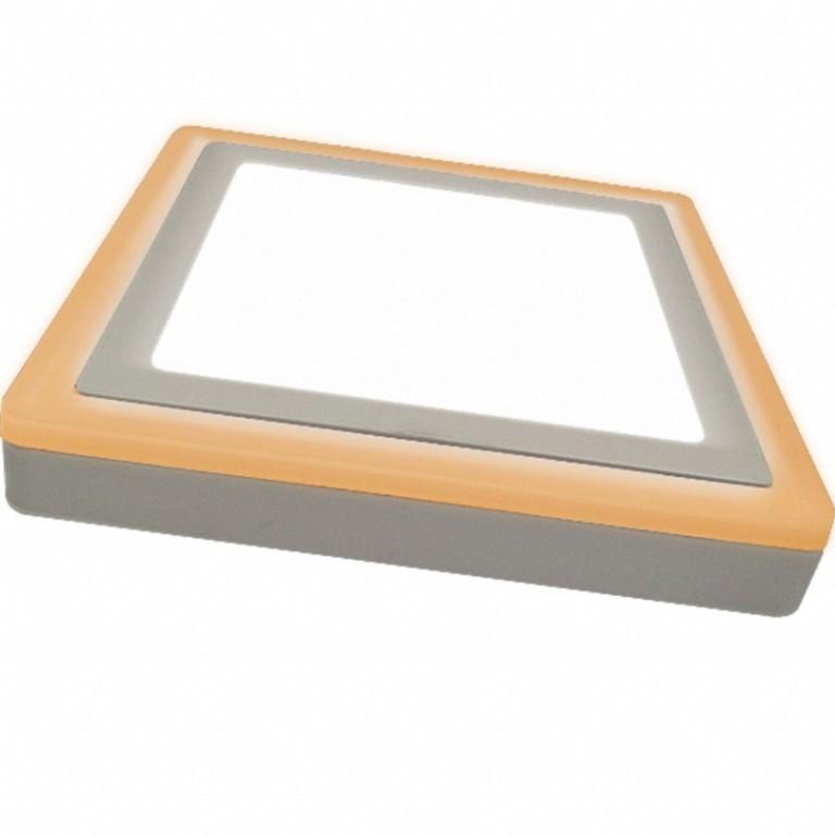 Luminária Painel Dual Color Led Sobrepor Quadrado 18W+6W 3000k+6500k