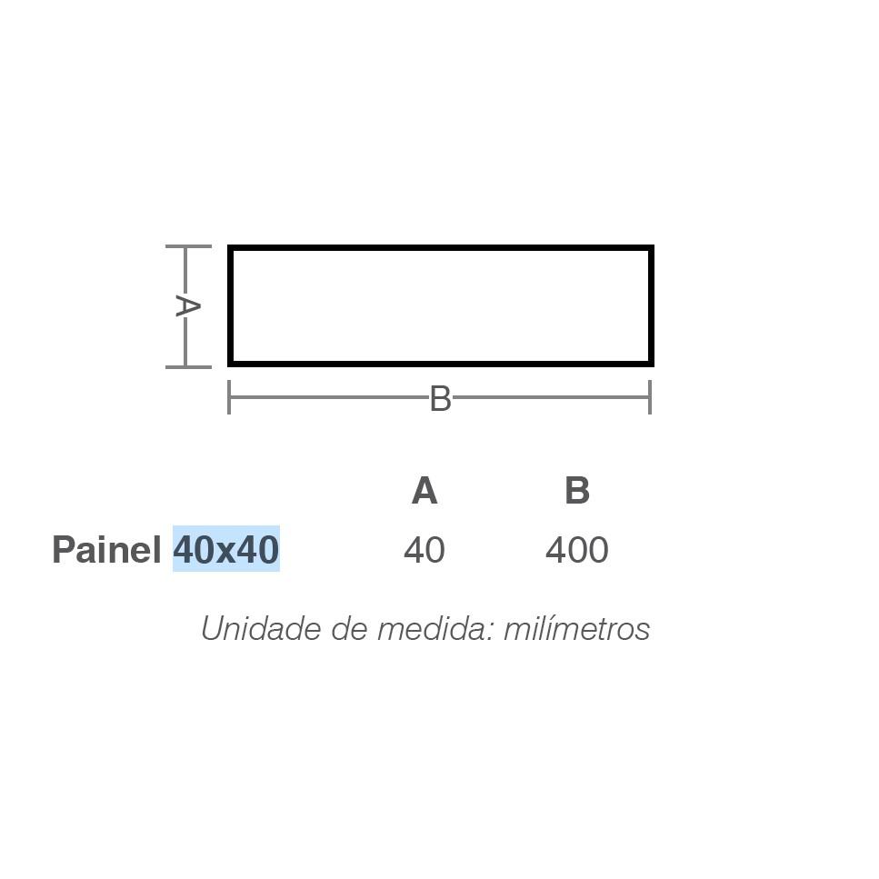 Luminária Painel Led Lux Sobrepor 40x40 32W