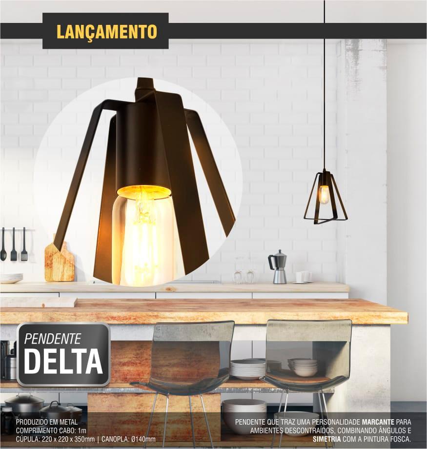 Luminária Pendente Delta Taschibra 1xE27