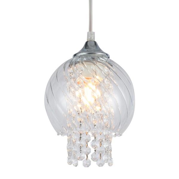 Luminária Pendente Diana Vidro Transparente Taschibra 1xE27