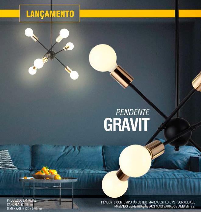 Luminária Pendente Gravity - Taschibra 6xE27