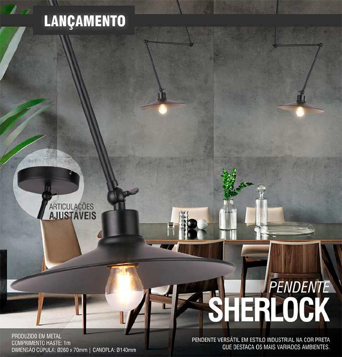 Luminária Pendente Sherlock