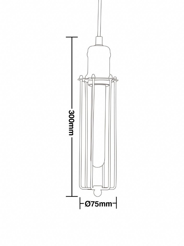 Luminária Pendente Taschibra Modelo Cage