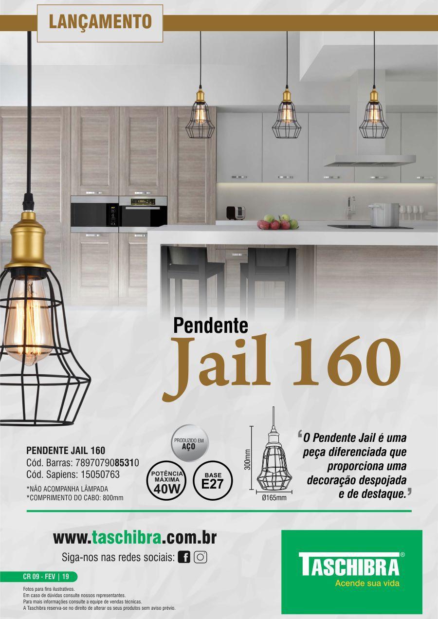 Luminária Pendente Taschibra Modelo Jail 160