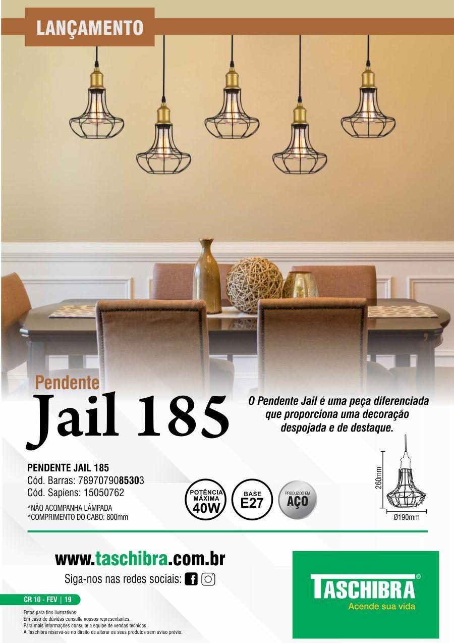 Luminária Pendente Taschibra Modelo Jail 185 Aramado