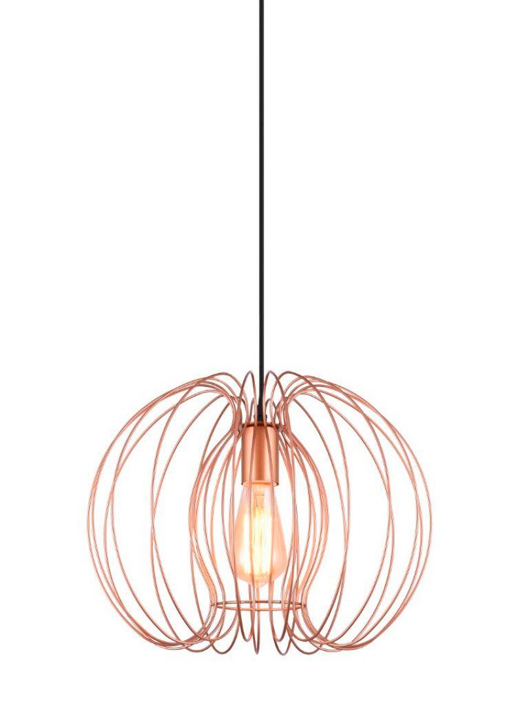 Luminária Pendente Taschibra Modelo Mônaco - Cobre