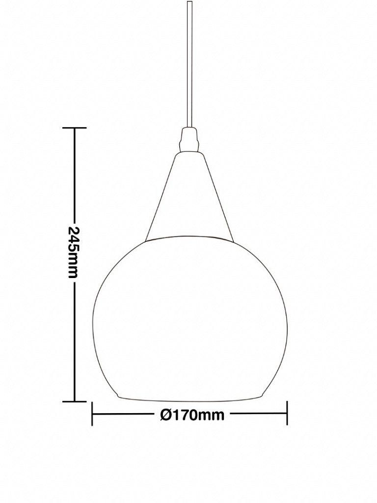 Luminária Pendente Taschibra Rovigo
