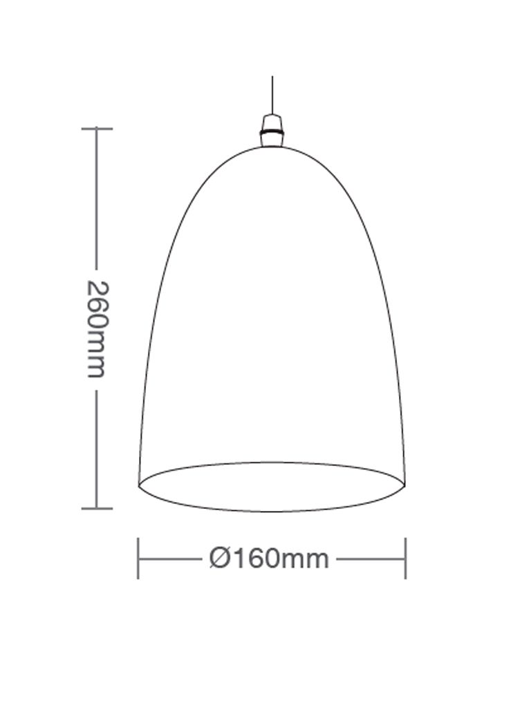 Luminária Pendente Taschibra TD 3008